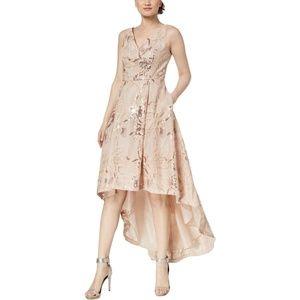 NWT $280 CALVIN KLEIN SEQUINED HI-LOW Dress Sz 6